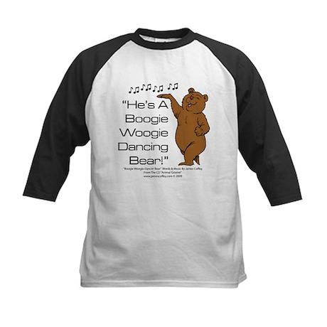 Boogie Woogie Dancin' Bear Kids Baseball Jersey