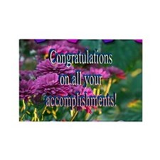 Rectangle Magnet (100 pack)- CONGRATS/ACCOMPLISH