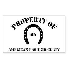 My American Bashkir Curly Rectangle Decal