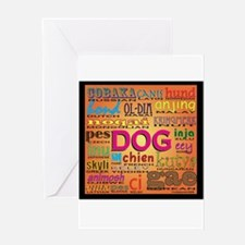 DOG in every language Greeting Card