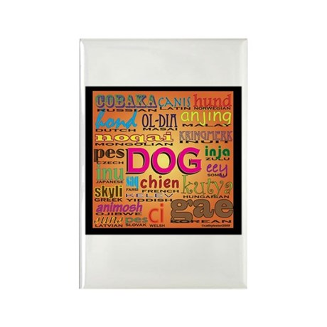 DOG in every language Rectangle Magnet (10 pack)