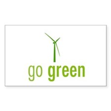 Go Green Rectangle Decal