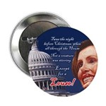 "Nancy Pelosi Holiday 2.25"" Button"