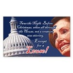 Nancy Pelosi Holiday Rectangle Sticker