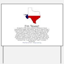 Texas Yard Sign