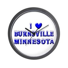 I Love Burnsville Winter Wall Clock