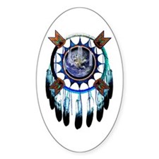 Indian Earth Oval Decal