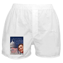 Nancy Pelosi Christmas Boxer Shorts