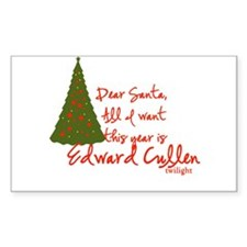 Edward for Christmas Rectangle Decal