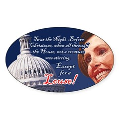 Nancy Pelosi Christmas Oval Decal