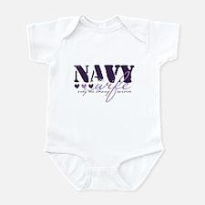 Navy Wife ... [purple] Infant Bodysuit
