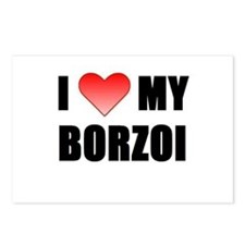 Cute I love my borzoi Postcards (Package of 8)