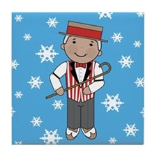 Barbershop Singer Christmas Tile Coaster