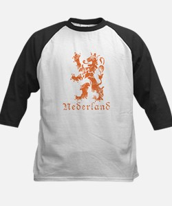 Netherlands - Lion - Orange Kids Baseball Jersey