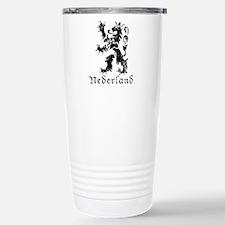 Netherlands - Lion - Black Travel Mug