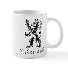 Netherlands - Lion - Black Mug