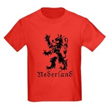 Netherlands - Lion - Black T