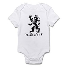Netherlands - Lion - Black Infant Bodysuit