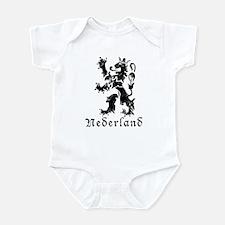 Netherlands - Lion - Black Infant Bodysuit