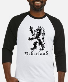 Netherlands - Lion - Black Baseball Jersey