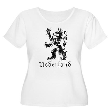Netherlands - Lion - Black Women's Plus Size Scoop