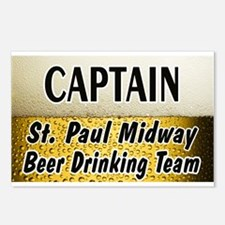 St. Paul Midway Beer Drinking Team Postcards (Pack