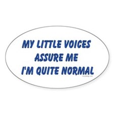 My little voices... Oval Decal