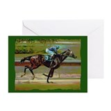 Horse race Greeting Cards (20 Pack)