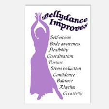 bellydance improves Postcards (Package of 8)