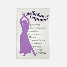 bellydance improves Rectangle Magnet