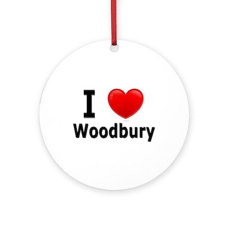 I Love Woodbury Ornament (Round)