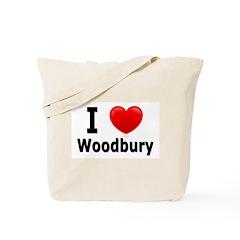 I Love Woodbury Tote Bag