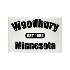 Woodbury Established 1858 Rectangle Magnet (10 pac