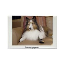 Remote Control Dog Rectangle Magnet (10 pack)