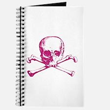 Hot Pink Cross Bones Journal
