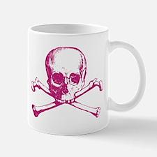 Hot Pink Cross Bones Mug