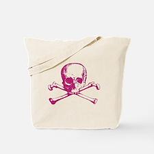 Hot Pink Cross Bones Tote Bag