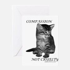 Cute Anti animal cruelty Greeting Card