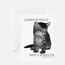 Cute Anti cruelty Greeting Card