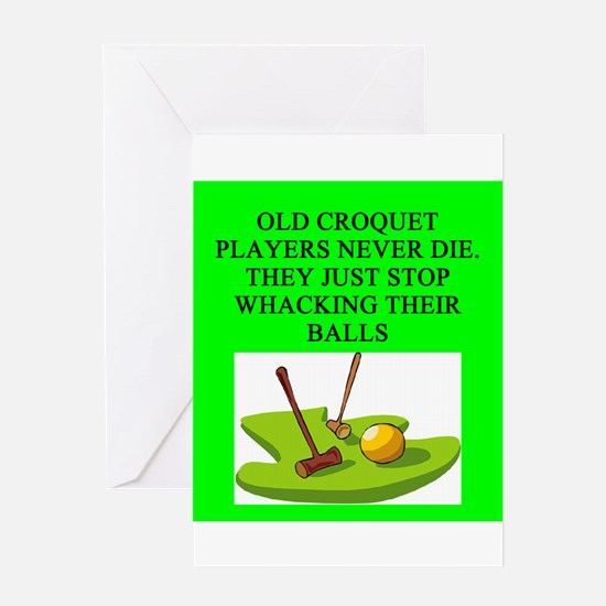 croquet player Greeting Card