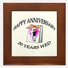 Cool 20th wedding anniversary Framed Tile