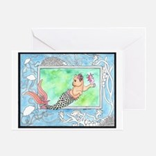 Mercat with Seahorse Greeting Card