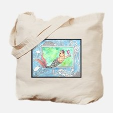 Mercat with Seahorse Tote Bag