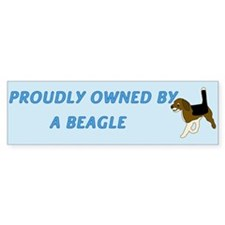 Proudly Owned Beagle Bumper Sticker