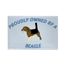 Proudly Owned Beagle Rectangle Magnet