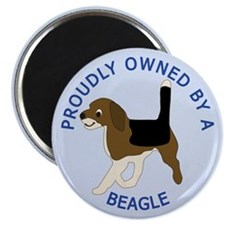 Proudly Owned Beagle Magnet