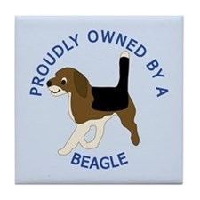 Proudly Owned Beagle Tile Coaster