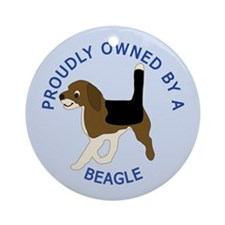Proudly Owned Beagle Ornament (Round)