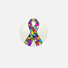 Unique Mental health green ribbon Mini Button (10 pack)