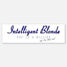 Intelligent Blonde Bumper Bumper Bumper Sticker